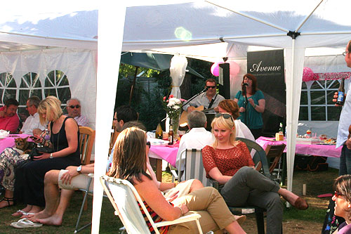 Avenue Acoustic Duo playing live music at a garden party