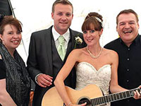 Avenue Acoustic Duo playing a wedding reception in Norwich