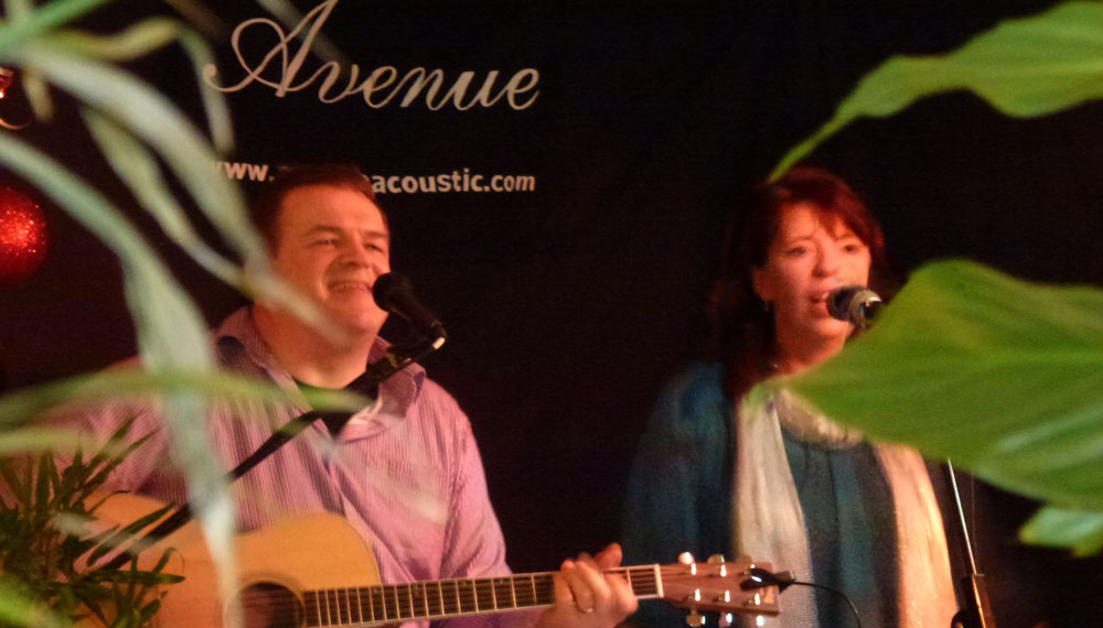 Norfolk wedding band Avenue Acoustic Duo playing a New Year party at a hotel in Norfolk