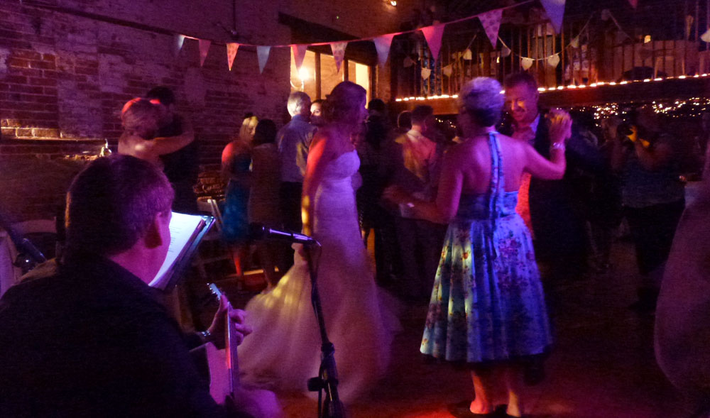 Norfolk wedding band Avenue Acoustic Duo playing dance music at a wedding