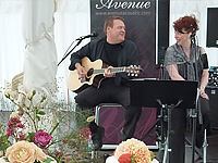 Avenue Acoustic Duo wedding band at a reception in North Norfolk