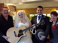 Avenue Acoustic duo wedding band at Galton Blackistone's Morston Hall hotel